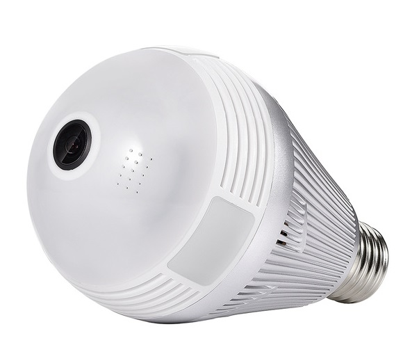 Smart Panoramic Wi-Fi Bulb 360 camera